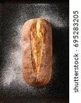 whole homemade white wheat...   Shutterstock . vector #695283205