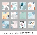 set of creative universal... | Shutterstock .eps vector #695297611