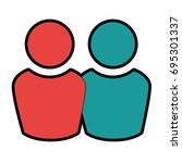 avatar people icon  | Shutterstock .eps vector #695301337