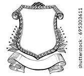 heraldic coat of arms and... | Shutterstock .eps vector #695303611