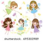 Vector Set Of Little Fairies I...