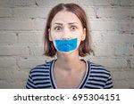 concept infringement of the... | Shutterstock . vector #695304151
