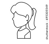 woman profile cartoon