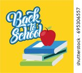back to school background | Shutterstock .eps vector #695306557
