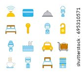 icon set travel accessories rest | Shutterstock .eps vector #695310571