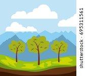 cool relaxing landscape | Shutterstock .eps vector #695311561
