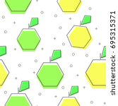 flat line apple pattern vector    Shutterstock .eps vector #695315371