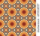 seamless vector traditional... | Shutterstock .eps vector #695318557