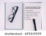 2018 new year's resolutions...   Shutterstock . vector #695319559