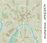 vector city map of moscow with... | Shutterstock .eps vector #695323579