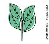 leaves eco symbol   Shutterstock .eps vector #695324365