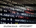 software developer programming... | Shutterstock . vector #695326897