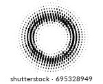 halftone sound wave black and... | Shutterstock .eps vector #695328949