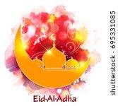 vector illustration for islamic ... | Shutterstock .eps vector #695331085
