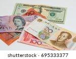 china yuan equal us dollars and ... | Shutterstock . vector #695333377