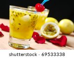 Passion Fruit Juice With A...
