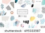 creative art header with... | Shutterstock .eps vector #695333587