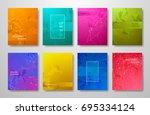 minimal covers design gradients ... | Shutterstock .eps vector #695334124