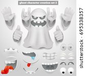 creation set of halloween...   Shutterstock .eps vector #695338357