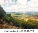 the lassithi plateau. crete  ... | Shutterstock . vector #695343391