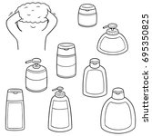 vector set of shampoo and... | Shutterstock .eps vector #695350825