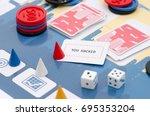 board game prototype business....   Shutterstock . vector #695353204