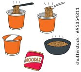 vector set of noodle | Shutterstock .eps vector #695354311