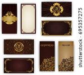 set of elegant template for vip ... | Shutterstock . vector #695357275