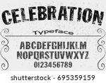 vintage font alphabet...   Shutterstock .eps vector #695359159