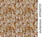 ethnic symbols seamless... | Shutterstock . vector #695360725