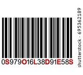 soldes message on bar code | Shutterstock .eps vector #695362189
