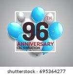 96th anniversary celebration...   Shutterstock .eps vector #695364277