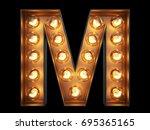 light bulb glowing letter... | Shutterstock . vector #695365165