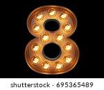 light bulb glowing digit... | Shutterstock . vector #695365489