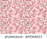 cute floral pattern in the... | Shutterstock .eps vector #695366011