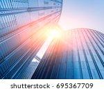 modern silos for storing grain...   Shutterstock . vector #695367709