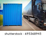 truck and container in