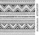 black and white tribal vector...   Shutterstock .eps vector #695369359