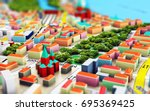gps satellite navigation ... | Shutterstock . vector #695369425