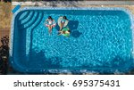 aerial top view of family in... | Shutterstock . vector #695375431