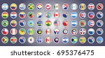 set of icons. flags of north ... | Shutterstock .eps vector #695376475