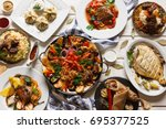 presentation of variety... | Shutterstock . vector #695377525