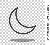 moon icon vector isolated | Shutterstock .eps vector #695381899