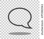 speech bubble icon vector... | Shutterstock .eps vector #695382061
