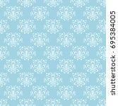 vintage pale blue ornament.... | Shutterstock .eps vector #695384005