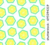 flat line lime pattern vector    Shutterstock .eps vector #695394319
