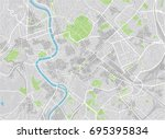 vector city map of rome with... | Shutterstock .eps vector #695395834