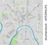 vector city map of moscow with... | Shutterstock .eps vector #695396191