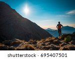 little lake landscape | Shutterstock . vector #695407501