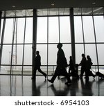 travellers at an airport ... | Shutterstock . vector #6954103